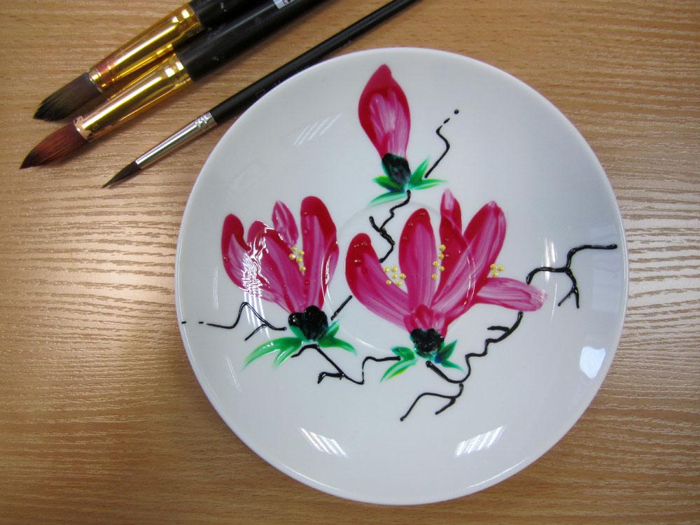 Роспись посуды от мастера