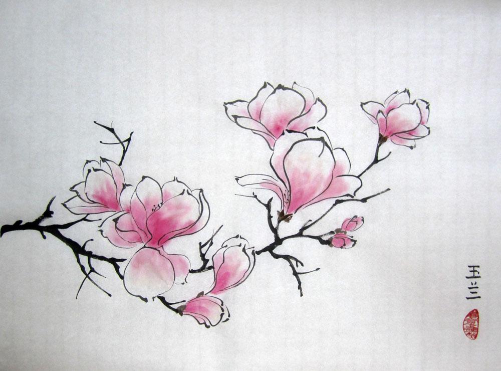 Как сделать китайские цветы 711