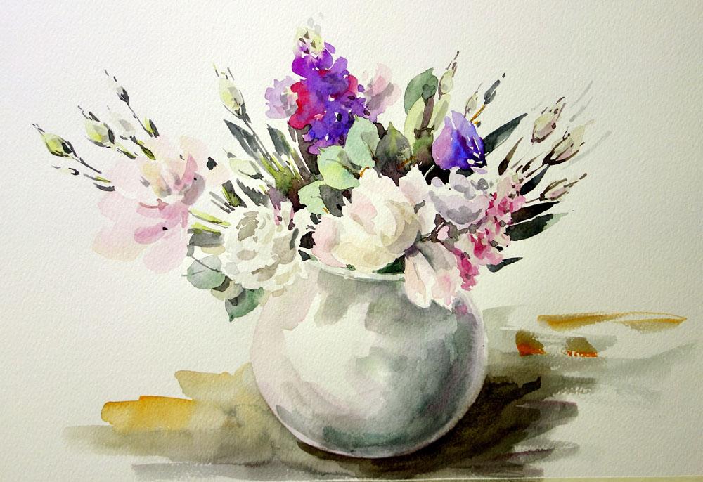 Москве курсы в москве акварели цветы Джонс