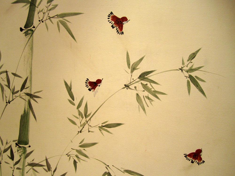 Роспись стен в залах